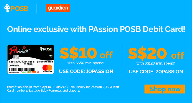 Online exclusive with PAssion POSB Debit Card!