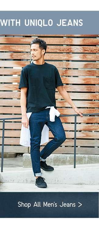 Pair your T-shirt with UNIQLO Jeans | Shop Men's Jeans