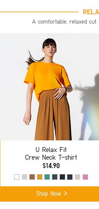 Relax Fit | Women's U Relax Fit Crew Neck T-shirt at $14.90