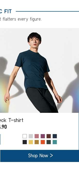 Basic Fit | Men's U Crew Neck T-shirt at $14.90