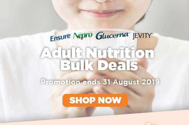 Adult Nutrition Bulk Deals   Promotion ends 31 August 2019