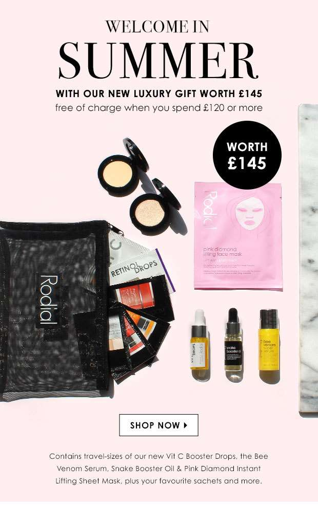 New Luxury Complimentary Gift Worth £145 When You Spend £120