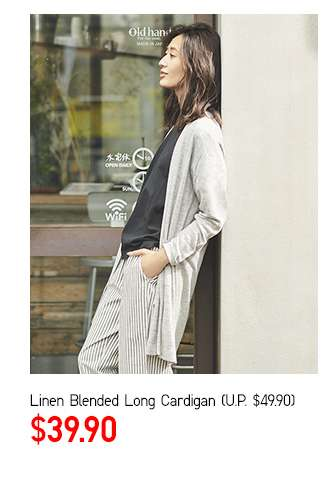Limited Offer! Women's Linen Blended Long Sleeve Long Cardigan at $39.90