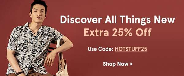 Extra 25% Off New Arrivals