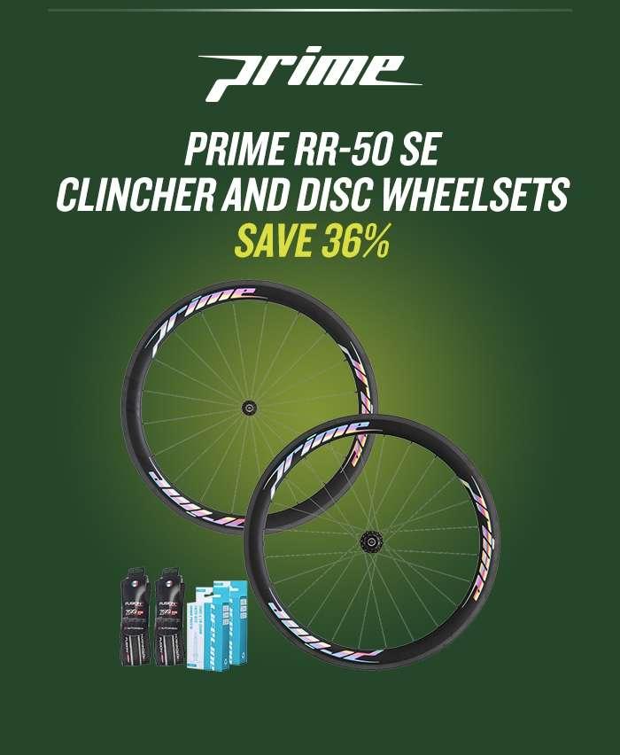 Prime RR-50 SE Clincher and Disc Wheelsets