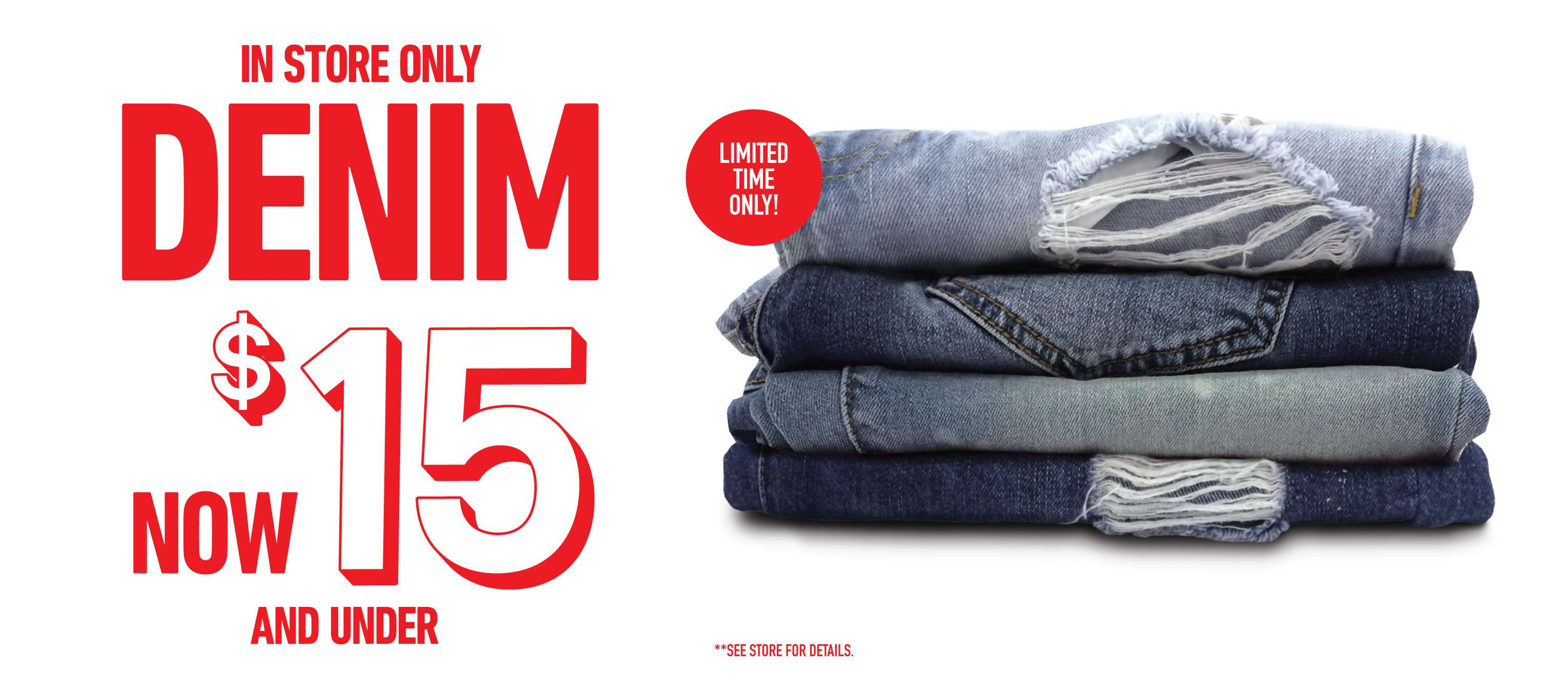 Denim Now $15