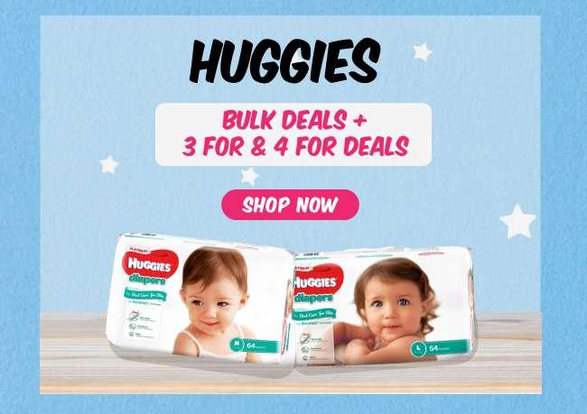 Huggies | Bulk Deals + 3 for & 4 for Deals