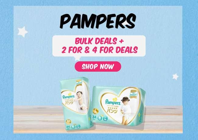Pampers | Bulk Deals + 2 for & 4 for Deals