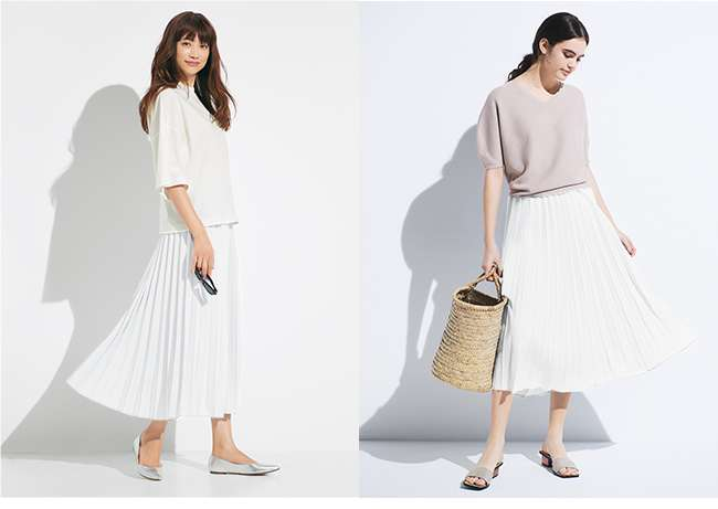 Women's Pleated Long Skirt at $29.90