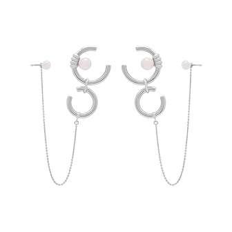 ROSE QUARTZ CHAIN LINK EARRINGS
