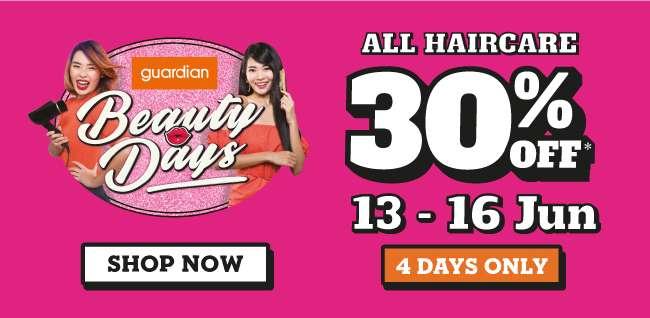 Beauty Days   30% off All Haircare  13-16 Jun