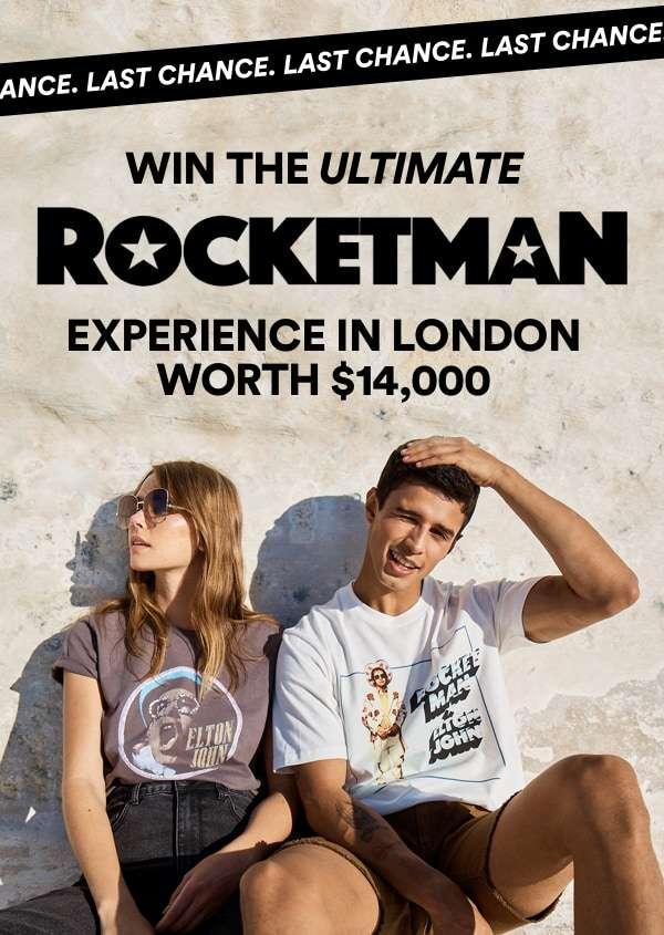 Last chance to win the ultimate ROCKETMAN experience in London.