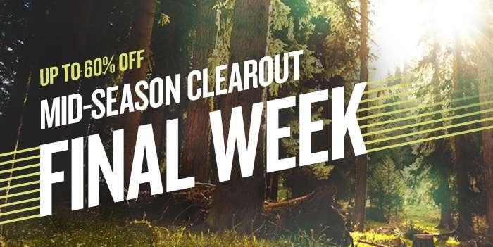 Mid-season clearout Final week