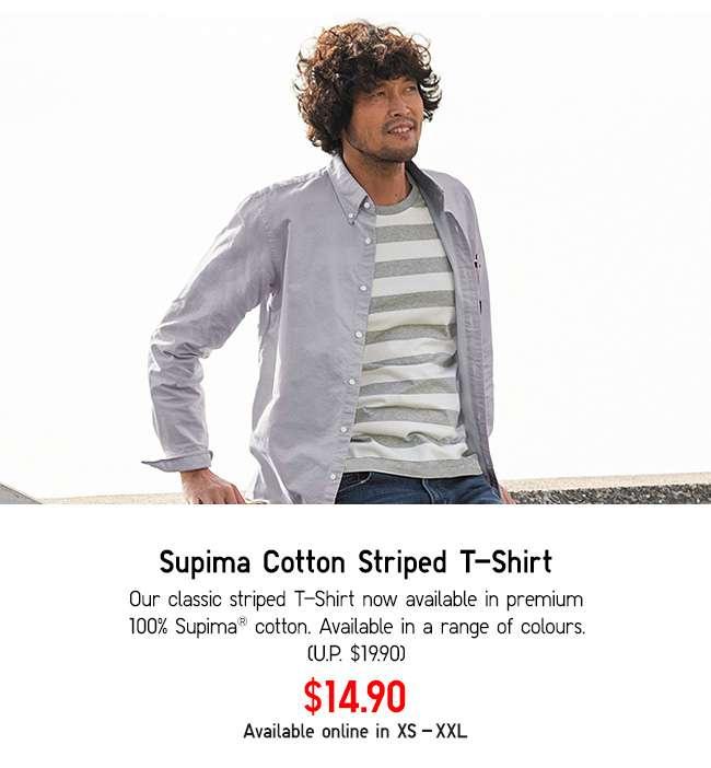 Supima Cotton Striped T-Shirt at $14.90