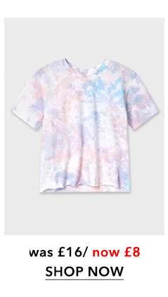 Multi Coloured Short Sleeve Tie-Dye T-Shirt