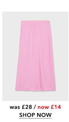 Pink Satin Bias Slip Skirt