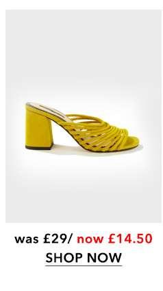 SAGE Yellow Multi Strap Mules
