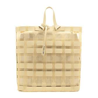 SEE-THROUGH WOVEN TOTE BAG