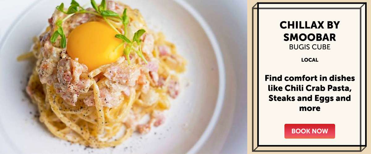 Chillax By Smoobar - Find comfort in dishes like Chili Crab Pasta, Steaks and Eggs and more