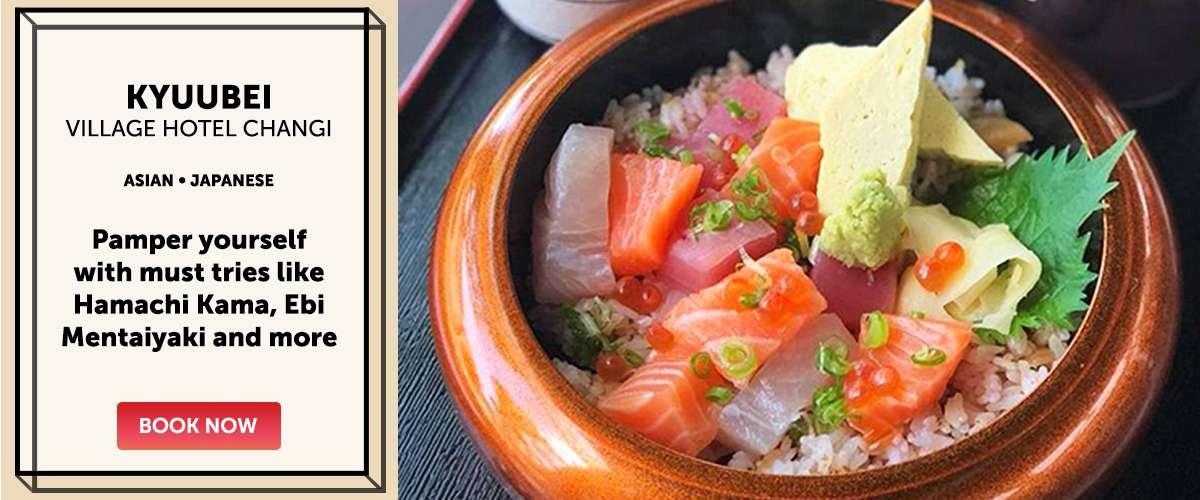 Kyuubei - Pamper yourself with must tries like Hamachi Kama, Ebi Mentaiyaki and more