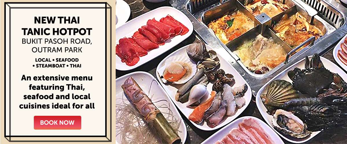 New Thai Tanic Hotpot - An extensive menu featuring Thai, seafood and local cuisines ideal for all