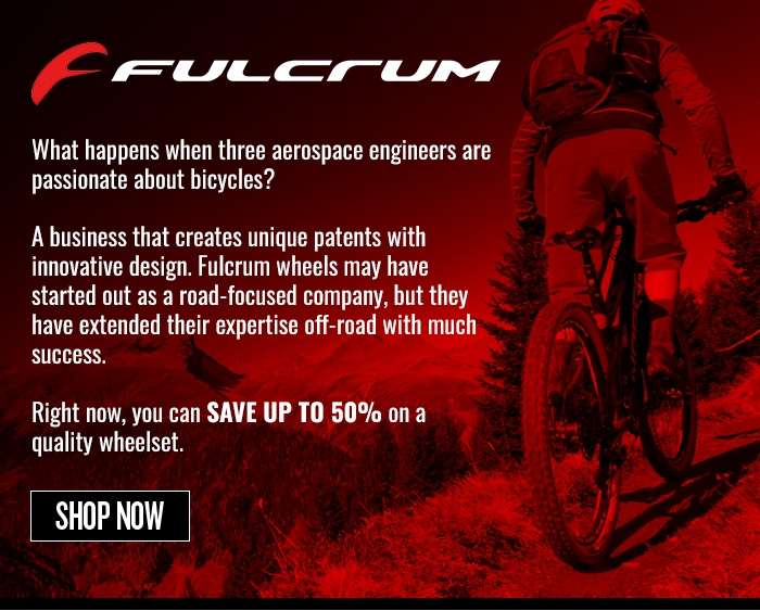 save up to 50% on Fulcrum wheels