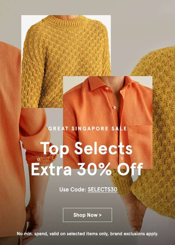 Great Singapore Sale: EXTRA 30% Off