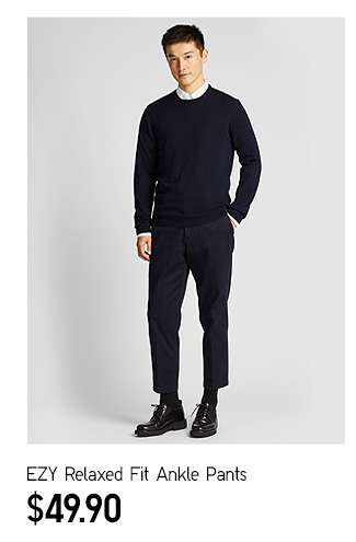 EZY Relaxed Fit Ankle Pants at $49.90
