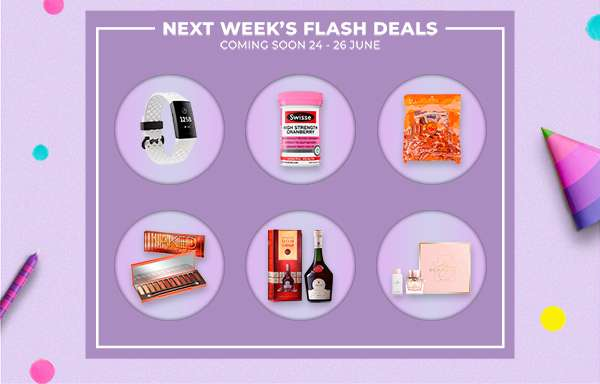 Next week's flash deals 24 – 26 June