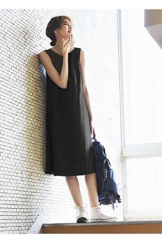 Linen Blend A Line Sleeveless Dress at $29.90