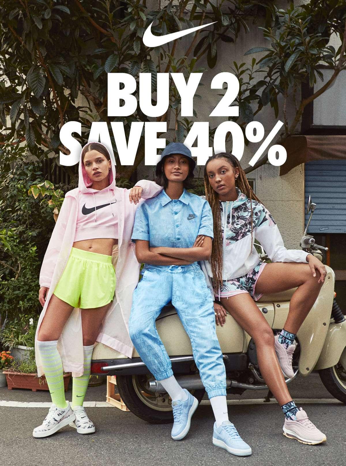 NIKE | BUY 2 SAVE 40%