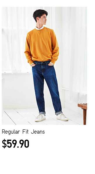 Pair your UT with Bottoms | Men's Regular Fit Jeans at $59.90
