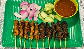 Rasa Istimewa Restaurant - 10 sticks of satays at SGD5++ for NS Men