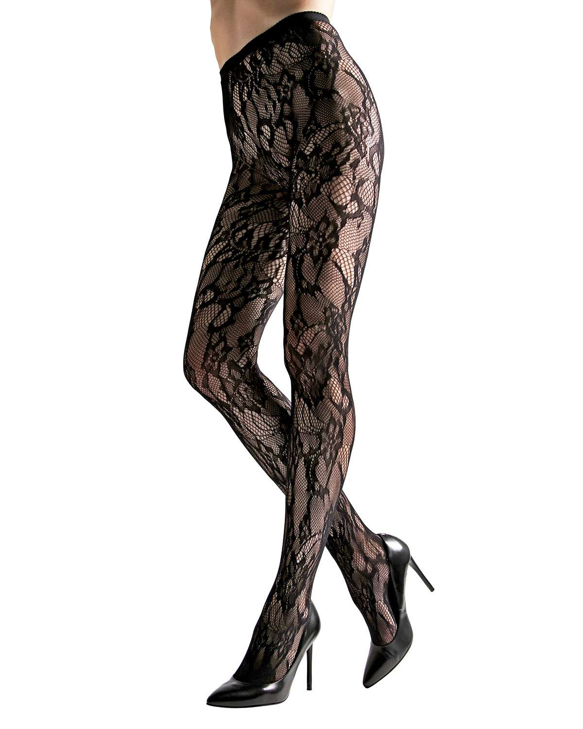 2-Pack Lace Cutout Net & Fishnet Tights
