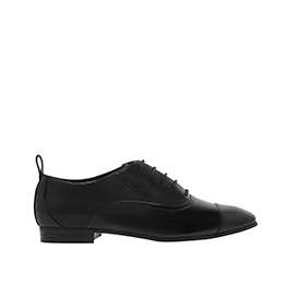 WRINKLED PATENT MESH OXFORD SHOES