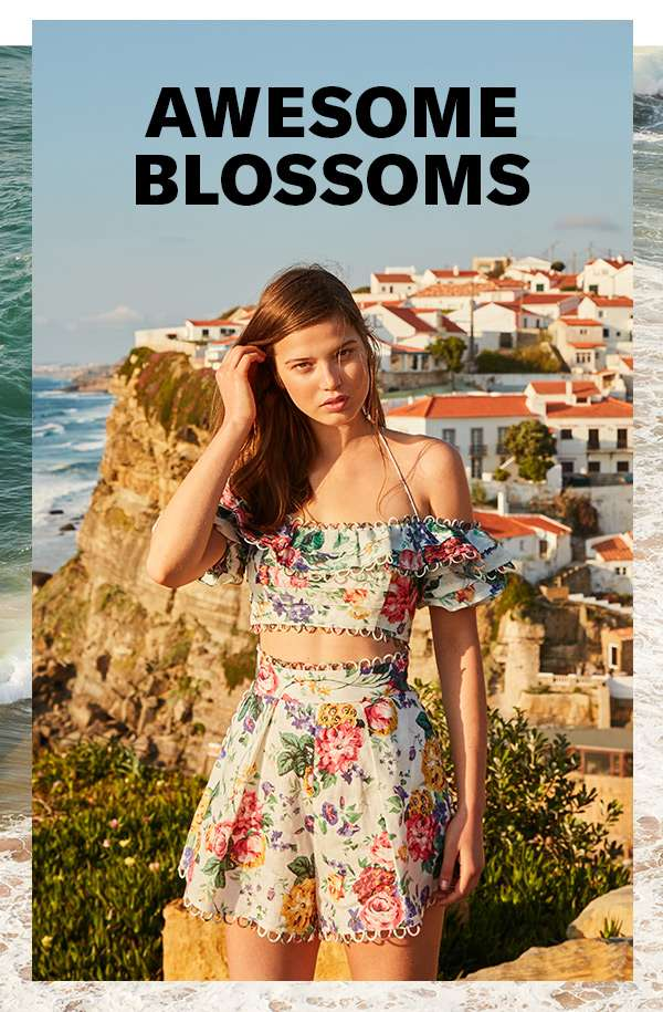 Like fresh flowers for your closet: our latest floral-print separates, dresses, swimsuits, and more.