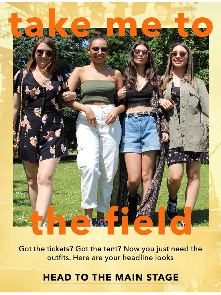 Take me to the field - Head to the main stage
