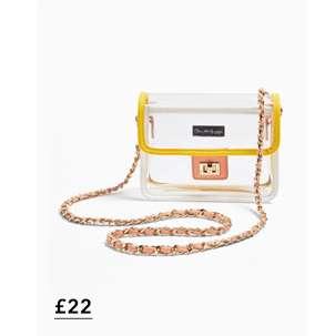 Yellow Pastel Transparent Cross Body Bag