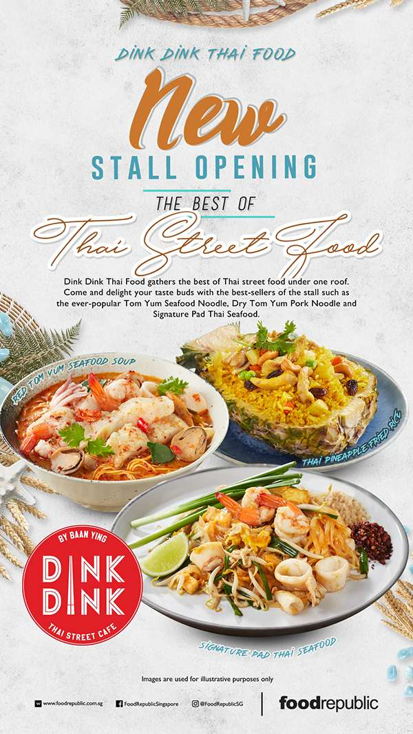 New stall opening and 20% off selected Thai Signature Noodle Dishes!