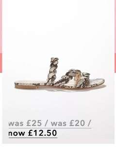 ETTA Grey Snake Plait Strap Sandals