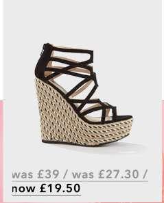 WINONA Black Platform Wedge Sandals