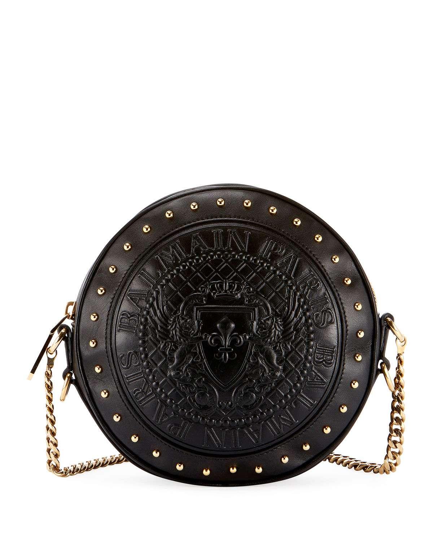 Disco Leather Circle Crossbody Bag