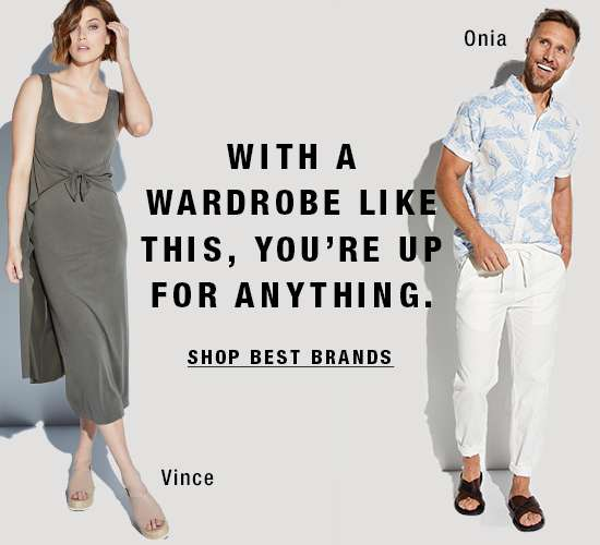 Women's and men's apparel from best brands