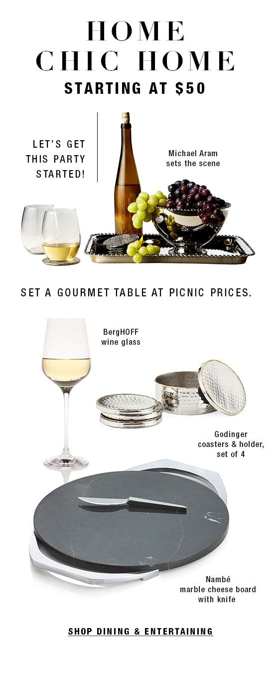 Dining and entertaining essentials