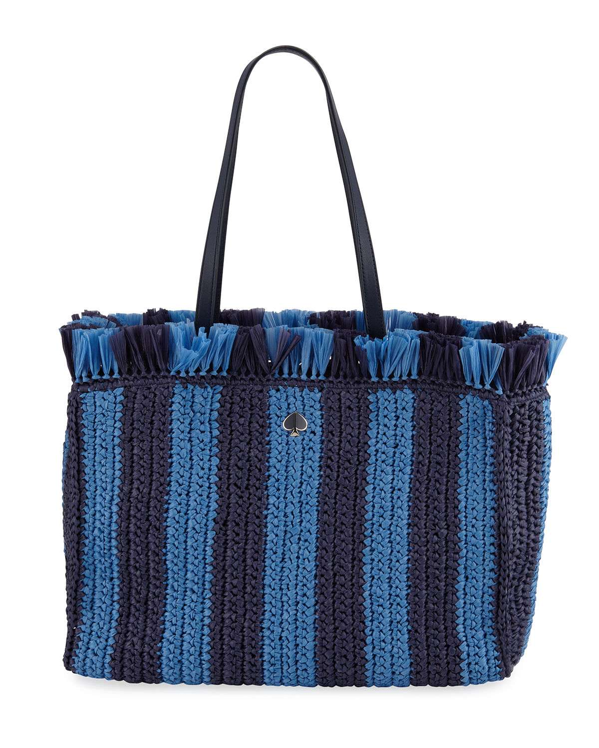 fringed raffia large tote bag