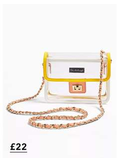 Yellow Pastel Transparent Cross Body Bag
