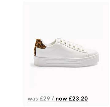 TESS White Lace Up Flatform Trainers