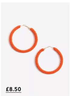 Orange Bead Hoops
