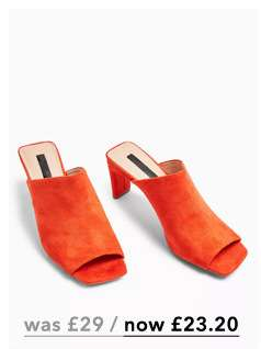 SWEET Orange Square Toe Minimal Mules