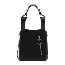RING ZIP POCKET SQUARE HANDLE TRAPEZE TOTE